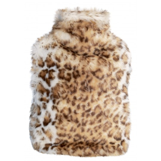 Winter Home Wärmflasche Fellimitat SNOW LEOPARD
