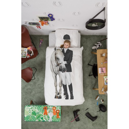 Snurk Kinderbettwäsche Pferd 160x210/65x100 cm