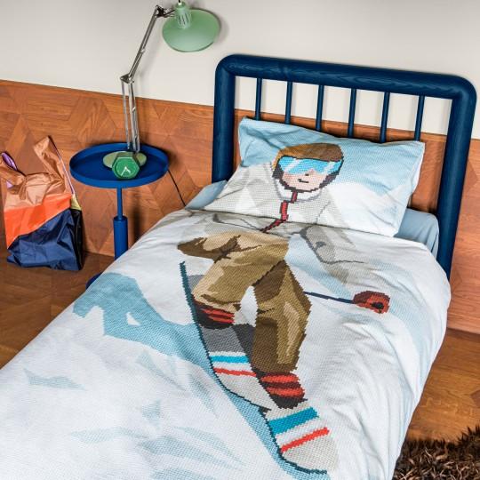 Snurk Alpenchic Bettwäsche Garnitur SKI BOY 160x210+65x100 cm