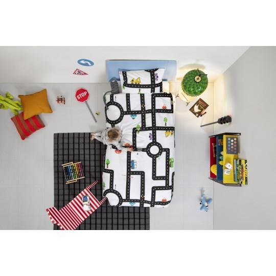 Snurk Kinderbettwäsche Garnitur CLAY TRAFFIC 160x210+65x100 cm
