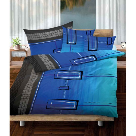 Bettwäsche Renforcé AVERY in rot und blau