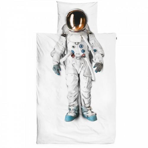 Snurk Kinderbettwäsche Set Astronaut 160x210+65x100 cm