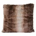 Winter Home Kissen Fellimitat Fox 45x45 cm Braun gestreift