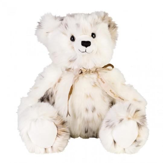 Winter Home Fellimitat Teddybär Lynx weiss