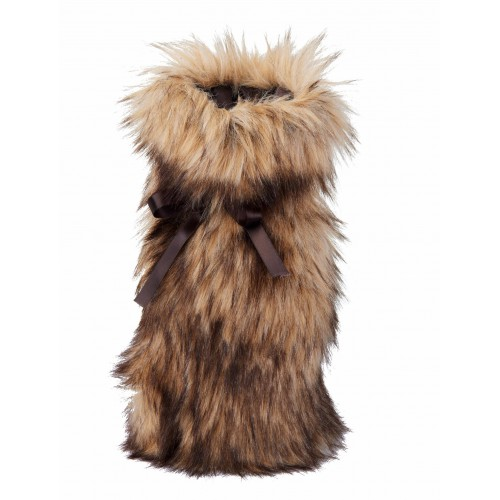 Winter Home Fellimitat Geschenk-Beutel Steppenwolf 30cm