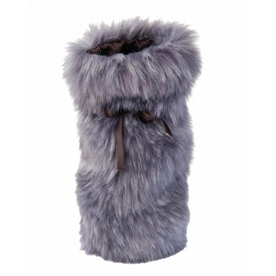 Winter Home Fellimitat Geschenk-Beutel Purplewolf 30cm Lila