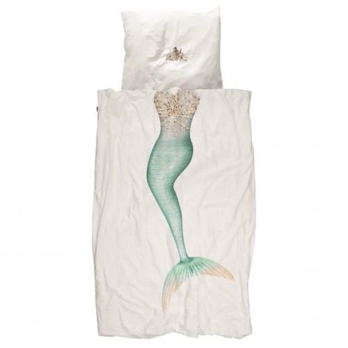 Snurk Kinderbettwäsche Meerjungfrau 160x210+65x100 cm