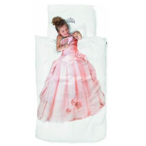 Kinderbettwäsche Snurk Prinzessin 160x210+65x100 cm