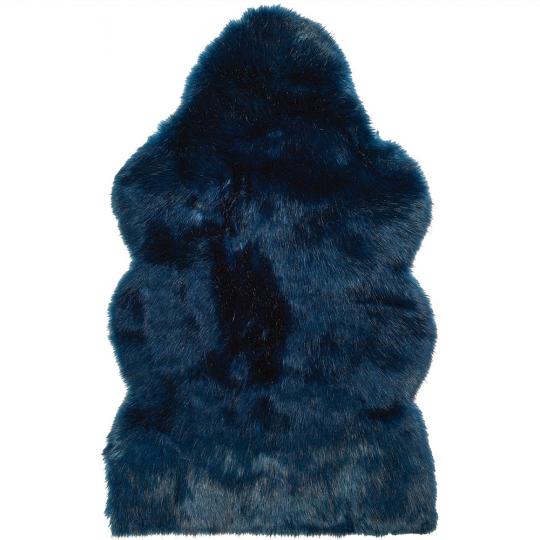 Winter Home Fellimitat Schaffell Midnight Wolf Blau