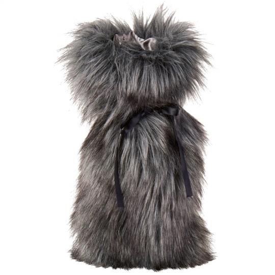 Winter Home Fellimitat Geschenk-Beutel Tamaskanwolf 30cm Grau
