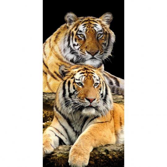 Strandtuch Tigerpaar 76x152 cm