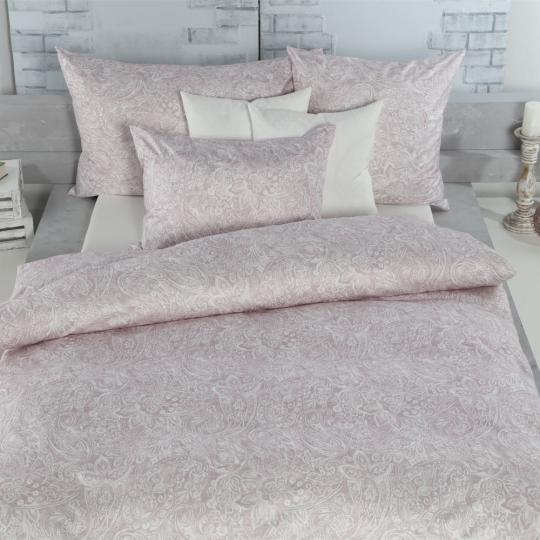 Tamara R Selection Satin Bettwäsche Garnitur rosa mit paisley muster