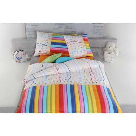 AColori Satin Bettwäsche  FARBSTIFTE multicolor