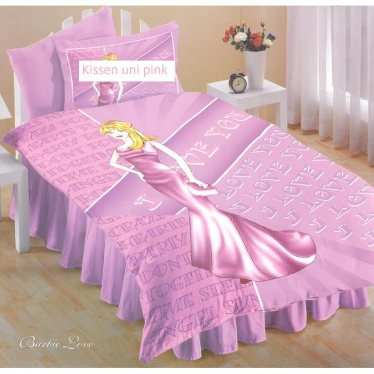 AColori Satin Bettwäsche BARBIE LOVE pink