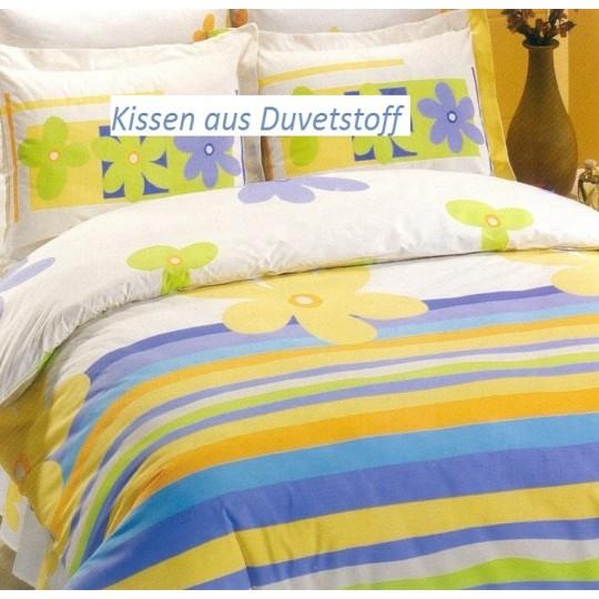 AColori Satin Bettwäsche DENIZ blau