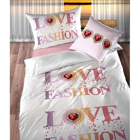 Baumwolle Bettwäsche-Garnitur Renforcé Boutique Lotus LOVE Fashion